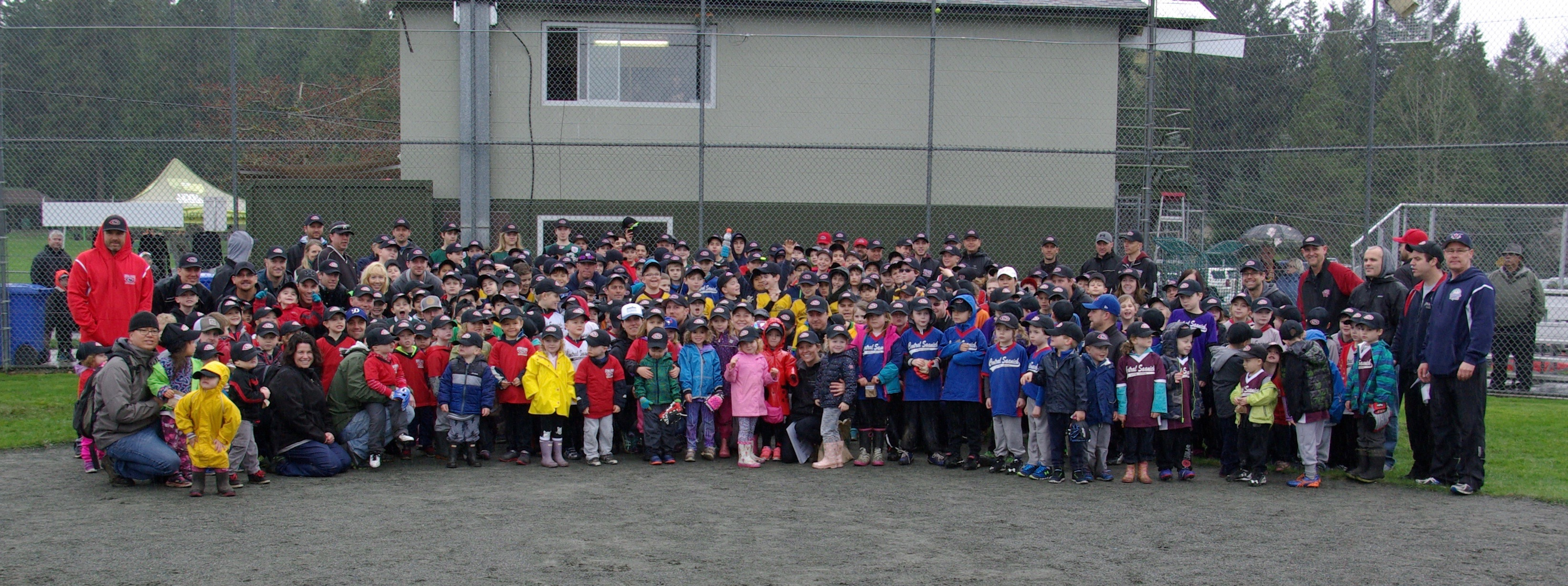 Opening ceremonies – wet but a success!