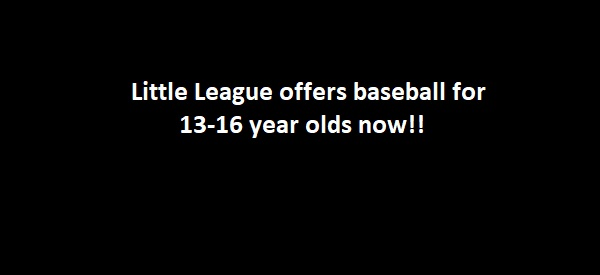 Little League in Victoria now offering programs for ages 13-16