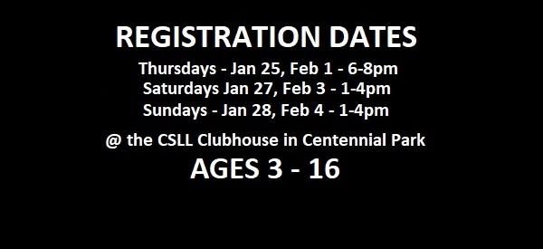 Registration Dates 2018