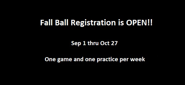 Fall Ball Registration is OPEN!