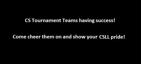 UPDATED – Tournament Teams having success!